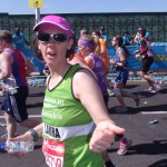Laura at the 15 mile mark