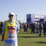 Andrew at the start of the London Marathon