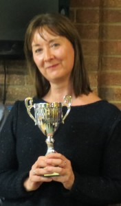 Linda 3rd place trophy
