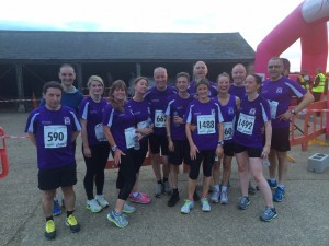 Club members at the Blisworth 5 mile